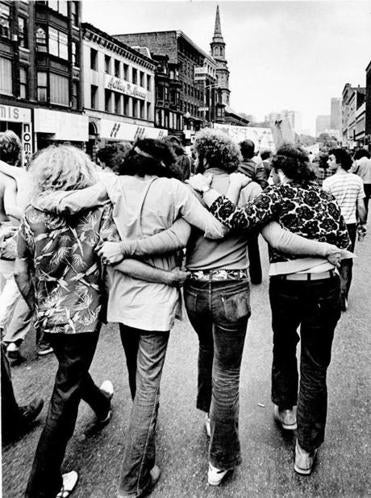 Marchers at a gay pride parade in Boston in June 1972.